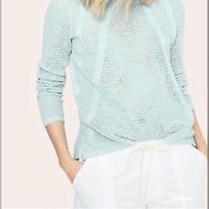 Lou & Grey mint green loose knit sweater